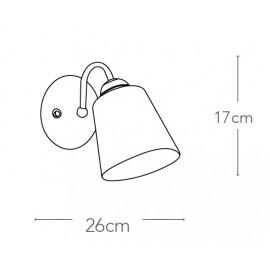 Applique 1162 in Metallo Argento con Diffusore in Vetro Soffiato Bianco FanEurope