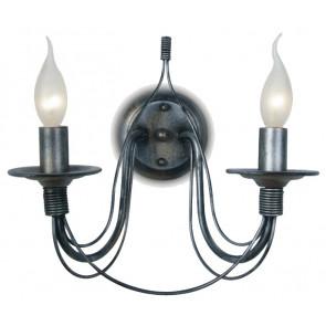 216/00500 - Applique Fili di Metallo Lampada da Parete Rustica E14