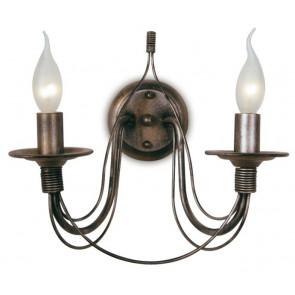 216/00700 - Applique murale en fil de métal cuivré Rustic Vintage Interior Lamp E14
