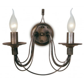 216/00700 - Applique Ramata Fili di Metallo Lampada Interni Rustica Vintage E14