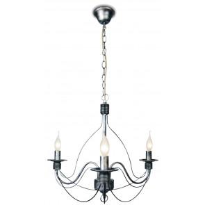 216/00200 - Lustre rustique, fils métalliques, suspension vintage E14