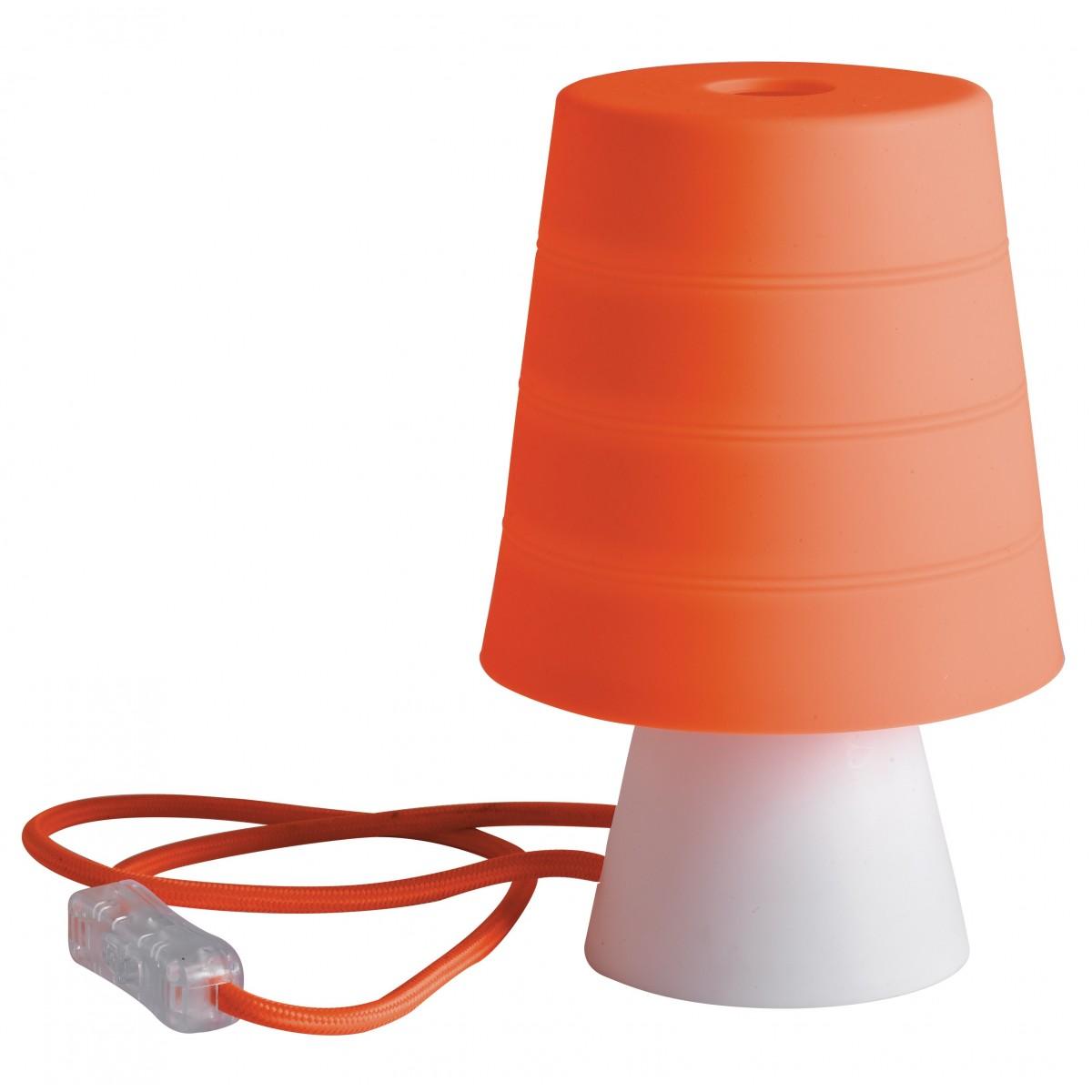 I DRUML ARA Lampada da tavolo originale in silicone color arancio 40 watt E14