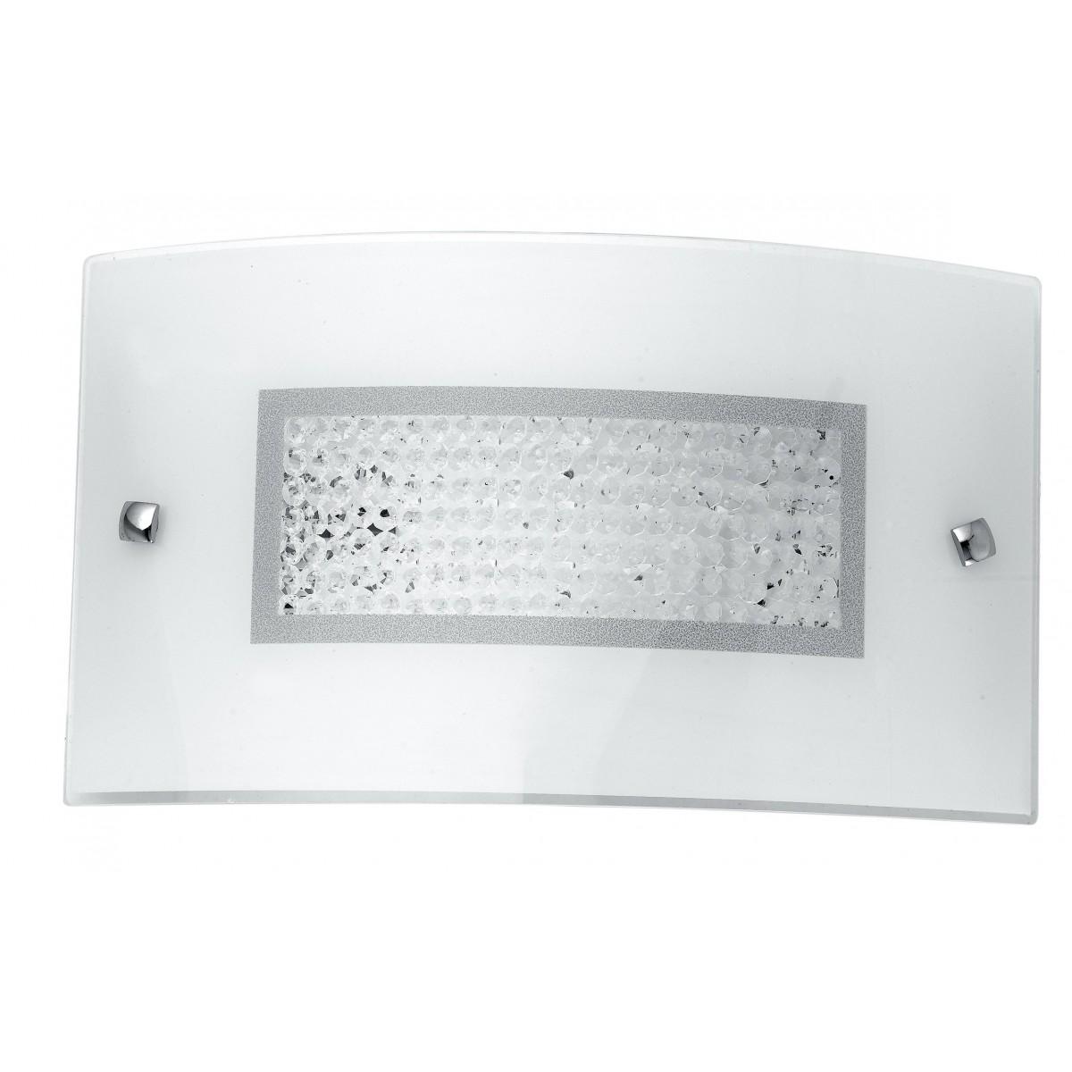 I-TRILOGY/AP3520 - Applique Classica Rettangolare Vetro decoro Cristalli K9 Led 16 watt Luce Naturale