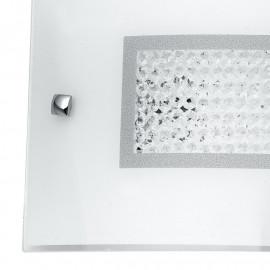 Diffuseur en verre avec décoration centrale dans la ligne Trilogy Crystals