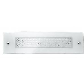 I-TRILOGY / AP4512 - Applique rectangulaire en verre avec décoration en cristaux K9 Lampe LED 14 watts lumière naturelle