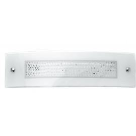 I-TRILOGY/AP4512 - Applique Vetro Rettangolare decoro Cristalli K9 Lampada Led 14 watt Luce Naturale