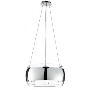 I-EQUATORE / S40CR - Lustre Circulaire Transparent Glass Band Modern Chrome E27