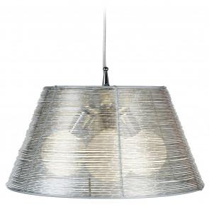 I-SPRIZ/S45 SILVER - Lampadario Sospeso Gabbia Fili Alluminio Interno Moderno E27