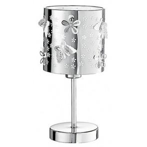 I-BUTTERFLY / L - Abat Jour Moderne Sculpture sur Acier Fleurs Papillons Lampe de Table Moderne E14