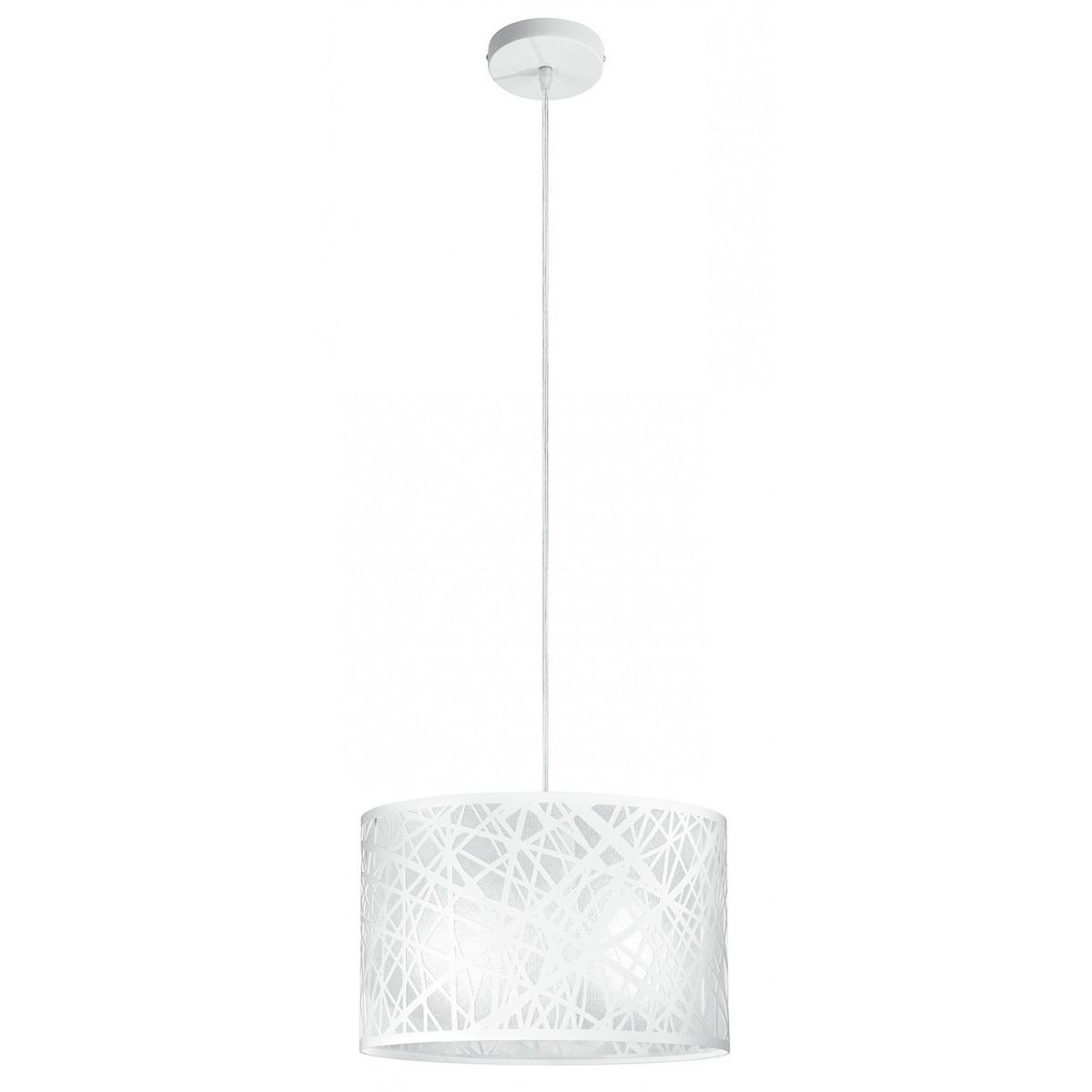 I-BATIK / S35 - Lustre à suspension circulaire en acier blanc décoration abstraite sculptée intérieur moderne E27