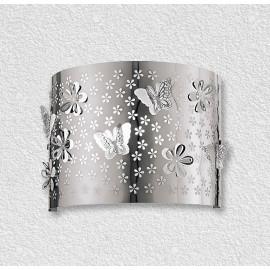 I-BUTTERFLY / AP - Applique Acier Sculpture Fleurs Papillons Intérieur Moderne E14