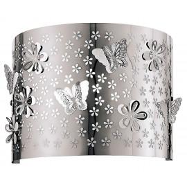 Applique murale papillon en acier avec fleurs et papillons sculpté au laser par Fan Europe
