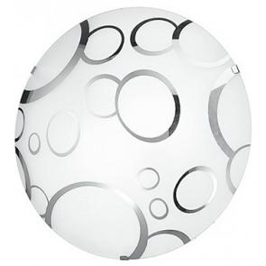 I-BUBBLE/PL30 - Plafoniera Lampada Moderna Bolle Cromate Tonda Vetro Bianco E27