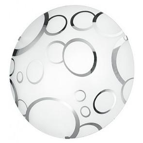 I-BUBBLE/PL40 - Plafoniera Tonda Vetro Bianco Bolle Cromo Soffitto Parete Moderna E27