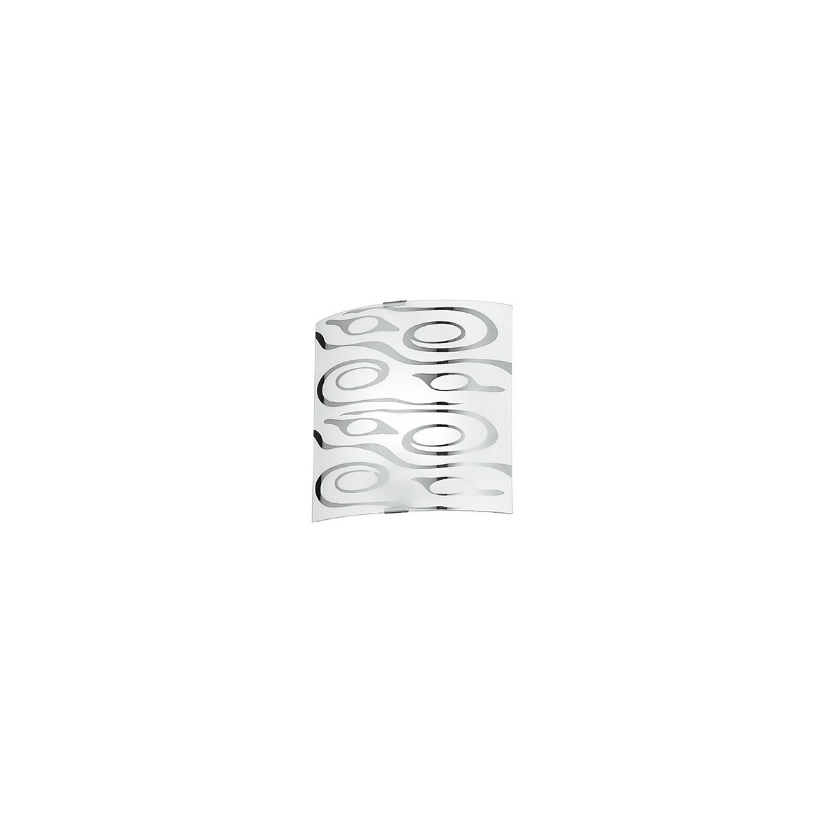 I-SOUND/AP - Applique Quadrata Moderna Vetro Bianco decoro Astratto Cromato Interno Moderno E27