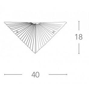 Applique murale triangulaire en verre...