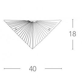Applique Iside Triangolare in Vetro Diamantato con Decoro a Raggi FanEurope