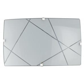 Applique blanche avec décoration moderne et lumières LED 12 watts