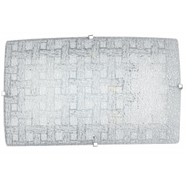 I-PAMELA / AP - Applique Murale Rectangulaire Tissage de Verre Diamant Lampe Led Moderne 18 watts Lumière Naturelle