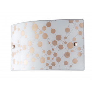 I-SUMMER / AP3520 - Applique Lampe Moderne Rectangulaire Verre Polka Dot Orange Led 16 watt Natural Light