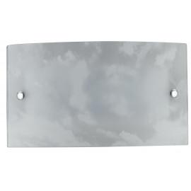 I-SELENE / AP - Applique murale rectangulaire décoration en verre épongé Led Applique murale 12 watts lumière naturelle