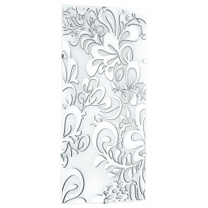 I-KAPPA / M POISON - Plafonnier avec décoration florale rectangulaire en verre intérieur moderne E27