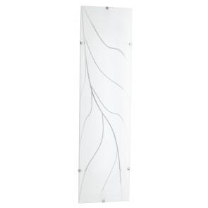 I-KAPPA/L STREEM - Plafoniera Rettangolare Vetro decoro Ramo Lampada Moderna E27