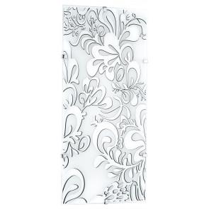 I-KAPPA-LD / M POISON - Plafonnier avec une décoration florale élégante et raffinée et avec des lumières LED de 28 watts