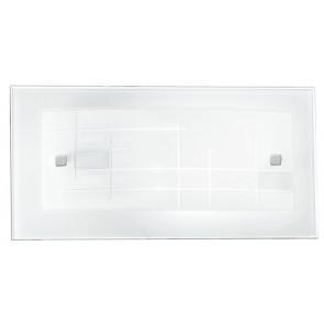 Applique Rettangolare Vetro Cornice decoro Quadri Lampada da Parete Classica E27