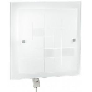 I-MUSA/PL30 - Plafoniera Lampada Classica Quadrata Vetro Cornice decoro Quadri Interno E27