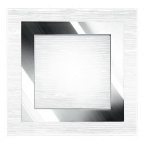 I-OAK/PL40Q - Plafoniera Moderna Quadrata Vetro decoro Cromato Quadrato Interno E27