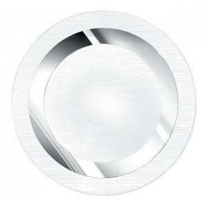 I-OAK/PL40R - Plafoniera Tonda Vetro decoro Cerchio Cromato Interno Moderno E27