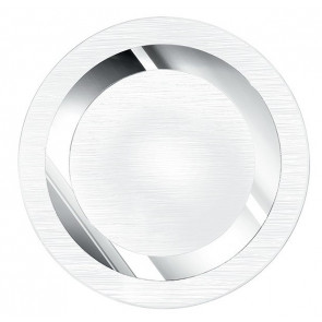 I-OAK / PL40R - Plafonnier rond en verre cercle chrome intérieur moderne E27