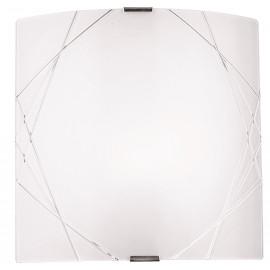 I-PARADISE/AP - Applique Quadrata Vetro Satinato decoro Geometrico Inciso Classica E27