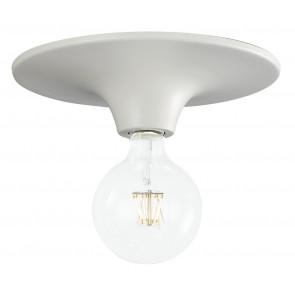 I-VESEVUS-BCO - Plafoniera Moderna Metallo Bianco Lampada Minimal Soffitto Parete E27