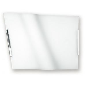 I-YH / ONDA / 30 - Plafonnier Onda Lampe Moderne Verre Blanc E27