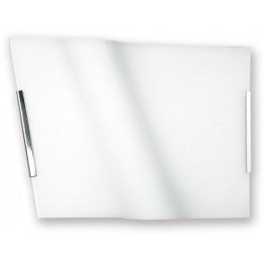 I-YH/ONDA/40 - Plafoniera Lampada Moderna Vetro Onda Bianco Interno E27
