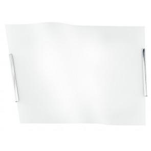 I-YH / ONDA / 50 - Plafonnier Onda Moderne Plafond Verre Blanc Mur E27