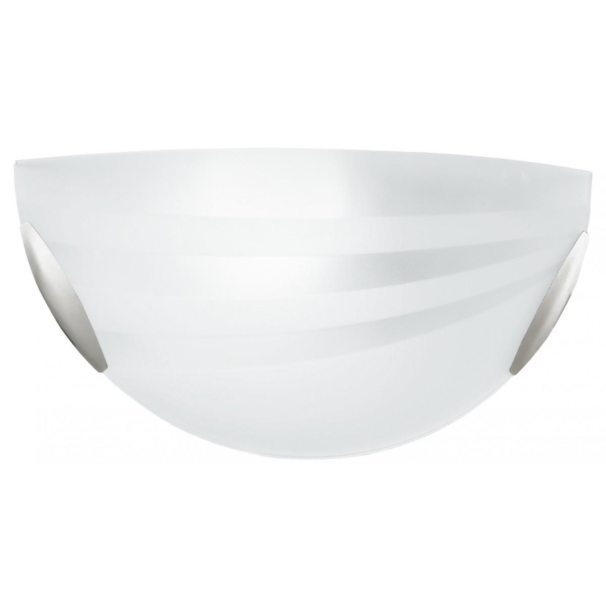 I-KUNA/AP - Applique Vetro decoro Fasce Satinato Lampada da Parete Classica E27