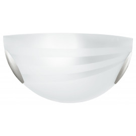 I-KUNA / AP - Applique en verre avec décoration en bandes de satin Applique classique E27