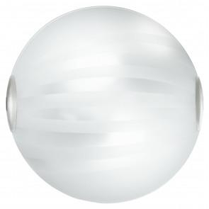 I-KUNA / PL40 - Plafonnier avec bandes décoratives Plafonnier rond classique en verre satiné E27