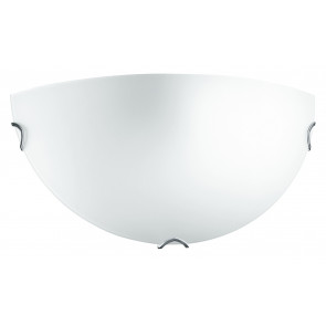 I-OBLO/AP - Applique Lunetta Vetro Satinato Bianco Lampada da Parete Classica E27