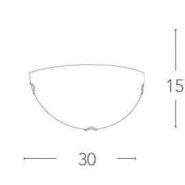 Applique Oblo a Lunetta in Vetro Bianco FanEurope