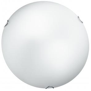 I-OBLO / PL30 - Plafonnier rond blanc en verre satiné plafonnier classique E27