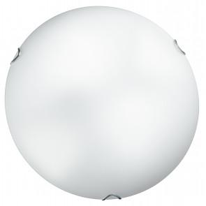 I-OBLO / PL40 - Plafonnier rond blanc simple Verre satiné Intérieur classique E27