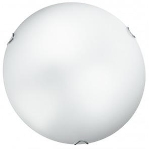 I-OBLO / PL50 - Plafonnier Lampe ronde classique Verre blanc satiné Intérieur E27