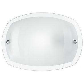 I-180/00212 - Plafoniera Tonda Vetro Bordo Trasparente Bianco Lucido Moderna E27
