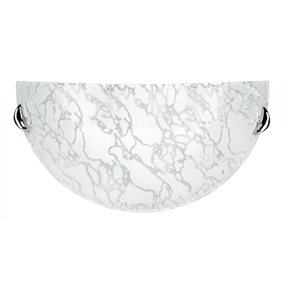 41/00212 - Applique Lunetta decoro Ghiaccio Vetro Lampada da Parete Moderna E27