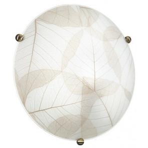 I-EDEN / PL30 - Plafonnier à décor de mur de plafond en verre classique à feuilles rondes beiges E27