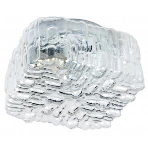 I-GIULIETTA / PL17 - Plafonnier Glace Cubique Décoré Lampe Moderne en Verre Transparent E27